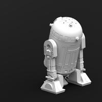 Small R2D2 Salt and Pepper Shaker 3D Printing 25565
