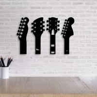 Small GUITAR NECK WALL DECORATION  SET OF 5 MODELS  3D Printing 255687