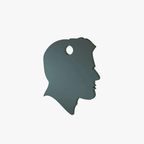 Head in profile keychain 3D Print 255695