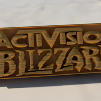 Small Activision Blizzard keychain 3D Printing 255736