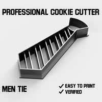 Small Men tie cookie cutter 3D Printing 255737