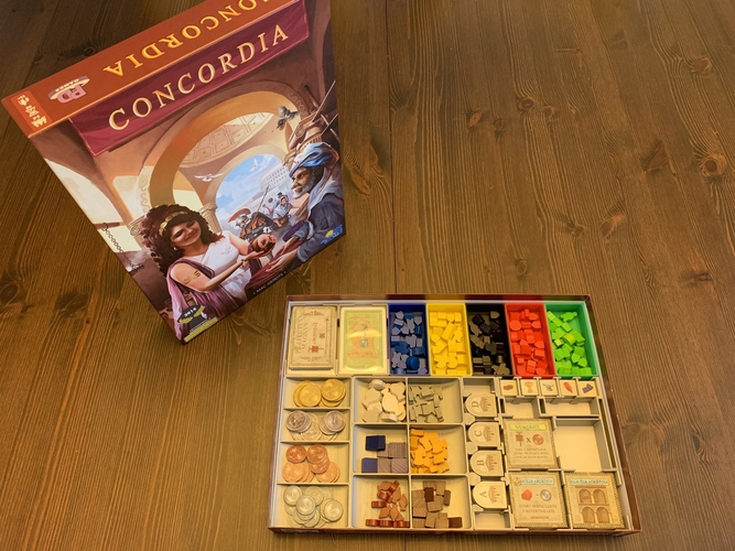 Concordia Board Game Organizer with Salsa Expansion 3D Print 255843