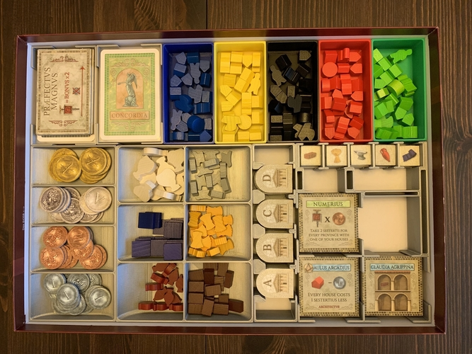 Concordia Board Game Organizer with Salsa Expansion 3D Print 255844