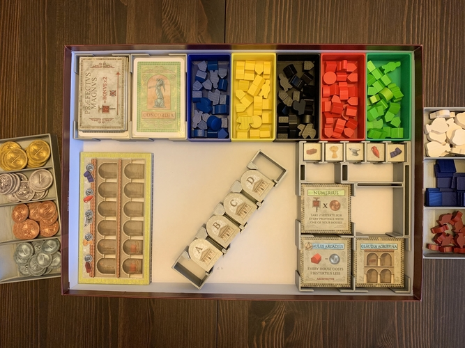 Concordia Board Game Organizer with Salsa Expansion 3D Print 255845