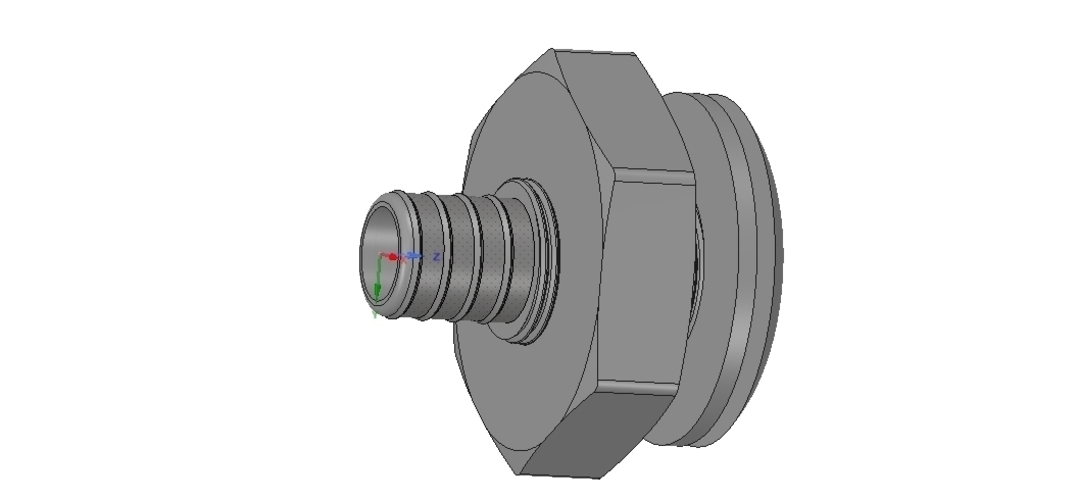 Marine Boat Thru Hull Fitting Connector 1 inch Hose 3D Print 255948