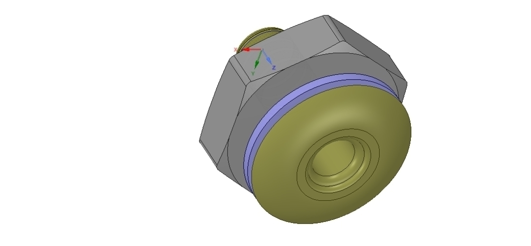 Marine Boat Thru Hull Fitting Connector 1 inch Hose 3D Print 255957