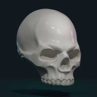 Small Stylized Skull 3D Printing 256003