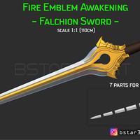 Small Fire Emblem Awakening Falchion Sword - Weapon for Cosplay  3D Printing 256028