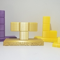 Small Tetris Trophies  - Maximus Cup Tetris 99 - Nintendo Switch 3D Printing 256049