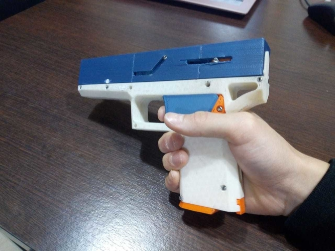 FULLY Fucntional 3D Printable Toy/Prop Gun! 3D Print 256110