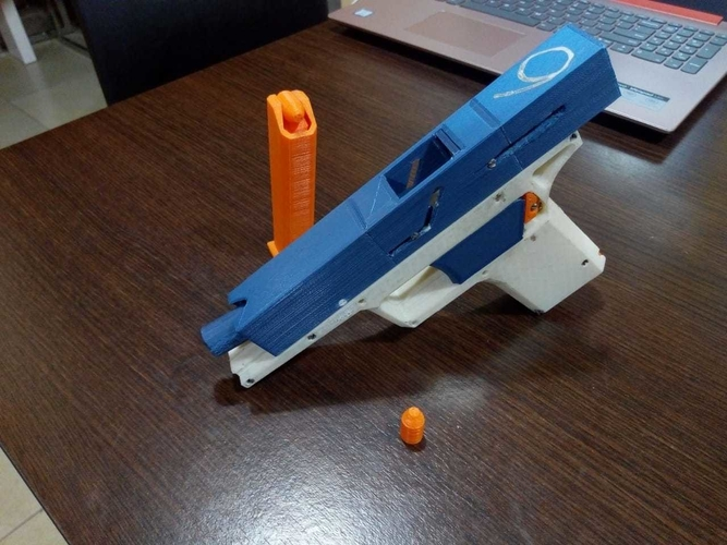 FULLY Fucntional 3D Printable Toy/Prop Gun! 3D Print 256114