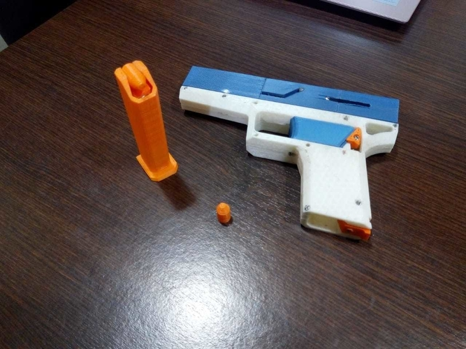 FULLY Fucntional 3D Printable Toy/Prop Gun! 3D Print 256115