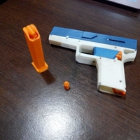 Small FULLY Fucntional 3D Printable Toy/Prop Gun! 3D Printing 256115