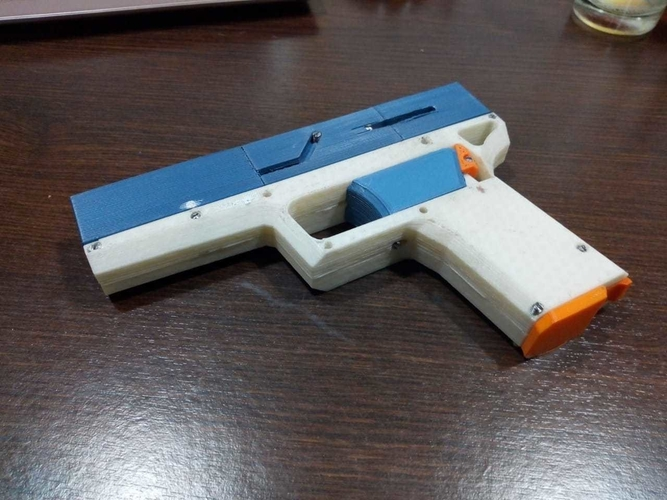 FULLY Fucntional 3D Printable Toy/Prop Gun! 3D Print 256116