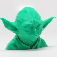Small Low Poly Yoda 3D Printing 25616