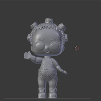 Small Lol Cosmic Queen   3D Printing 256174