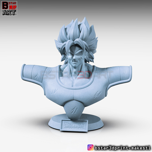 ​Broly Bust - from Broly Movie 2019 3D Print 256177