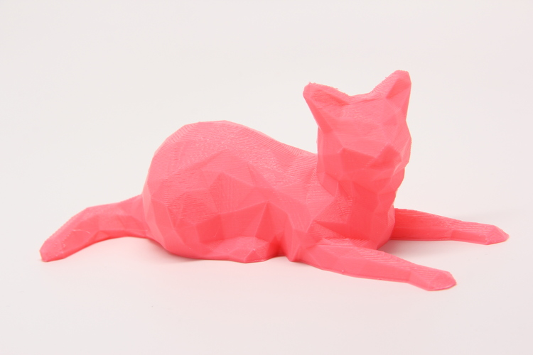 Low Poly Cat 3D Print 25622