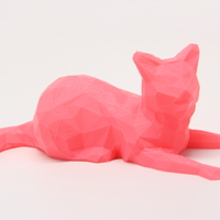 Small Low Poly Cat 3D Printing 25622