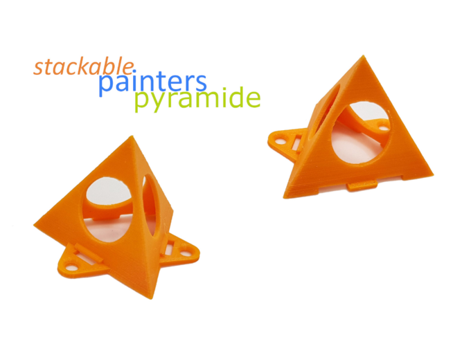 painters pyramide - stackable 3D Print 256228