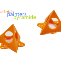 Small painters pyramide - stackable 3D Printing 256228