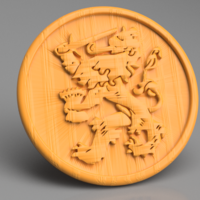 Small Lion coaster 3D Printing 256275