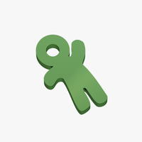 Small Keychain little man 3D Printing 256296