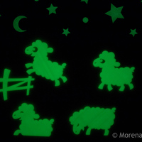 Small Good Night Sheep- glow in the dark 3D Printing 25642