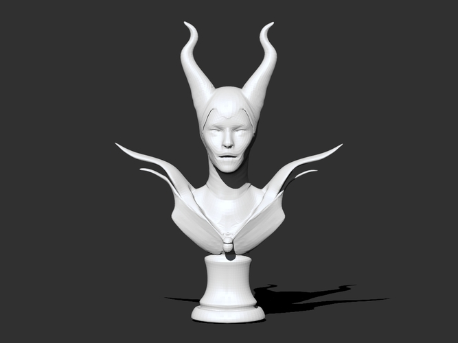 Maleficent Necklaces Holder 3D Print 25643