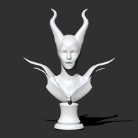 Small Maleficent Necklaces Holder 3D Printing 25643