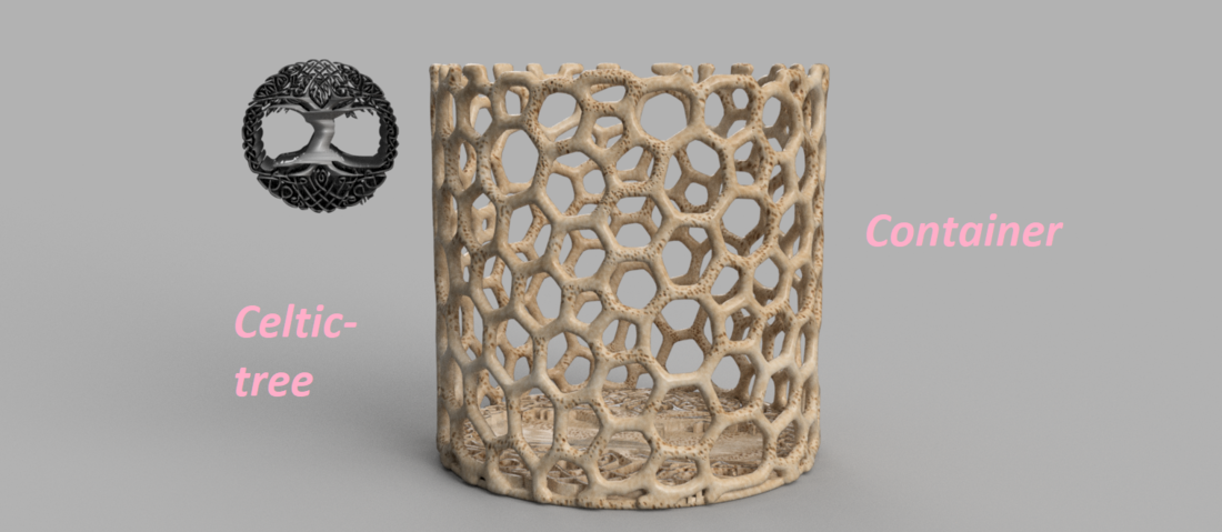 Celtic tree of life container 3D Print 256476