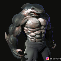 Small The Shark Man 3d print 3D Printing 256575