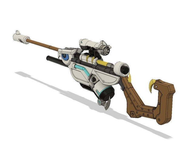ANA SNOW OWL rifle (overwatch) 3D Print 256591