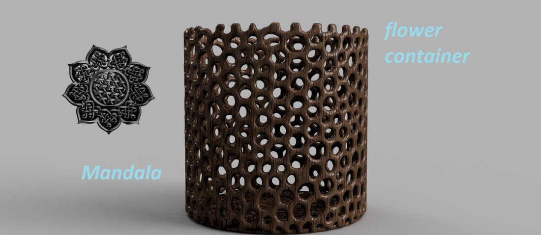 Celtic mandala flower container 3D Print 256608