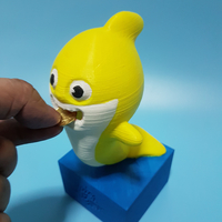 Small Baby shark coin bank 3D Printing 256652