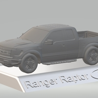 Small FORD RAPTOR F150 3D MODEL CAR CUSTOM 3D PRINTING STL FILE 3D Printing 256700