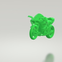 Small KAWASAKI NINJA H2 3D MODEL CUSTOM READY PRINTING STL FILE 3D Printing 256730