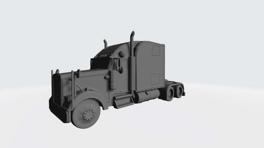 3D HAULER AMERICAN TRUCK MODEL READY FOR 3D PRINTING STL FILE 3D Print 256731