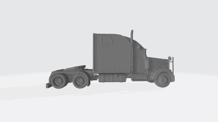 3D HAULER AMERICAN TRUCK MODEL READY FOR 3D PRINTING STL FILE 3D Print 256732