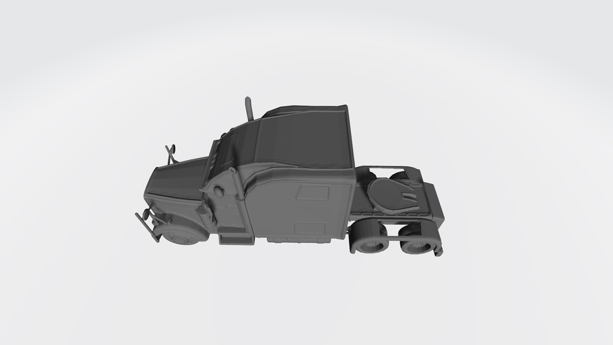 3D HAULER AMERICAN TRUCK MODEL READY FOR 3D PRINTING STL FILE 3D Print 256734