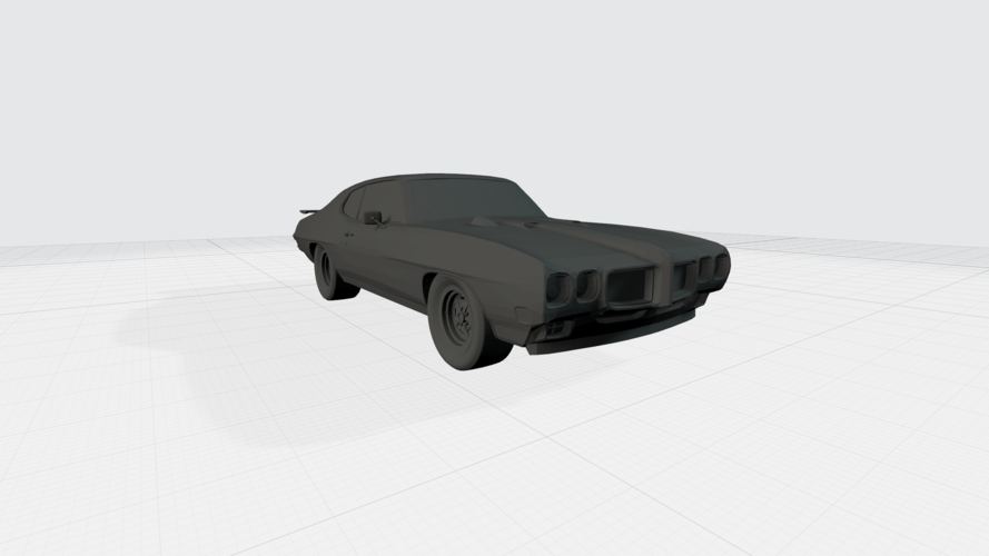 3D PRINTING MODEL OF PONTIAC GTO 1970 CAR STL FILE 3D Print 256743