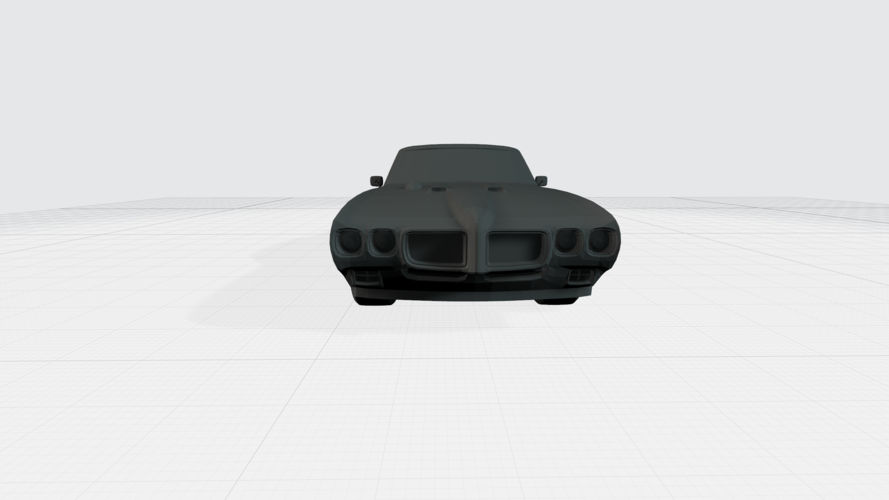 3D PRINTING MODEL OF PONTIAC GTO 1970 CAR STL FILE 3D Print 256744