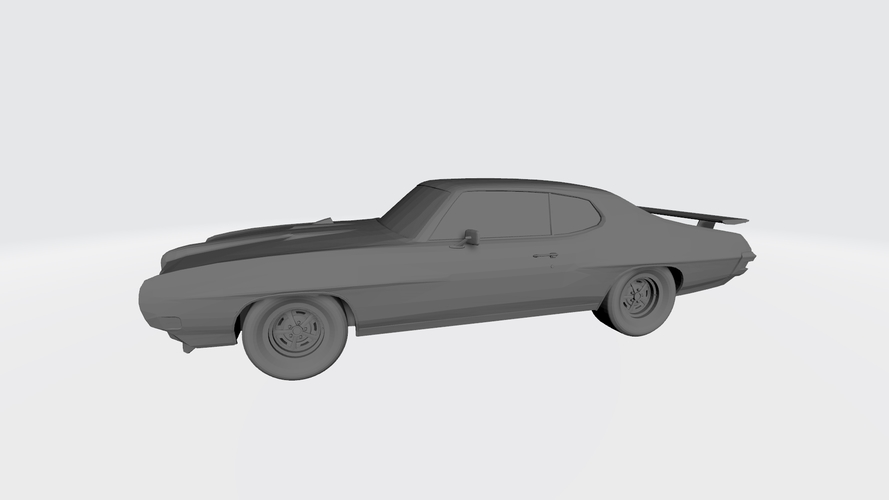 3D PRINTING MODEL OF PONTIAC GTO 1970 CAR STL FILE 3D Print 256745