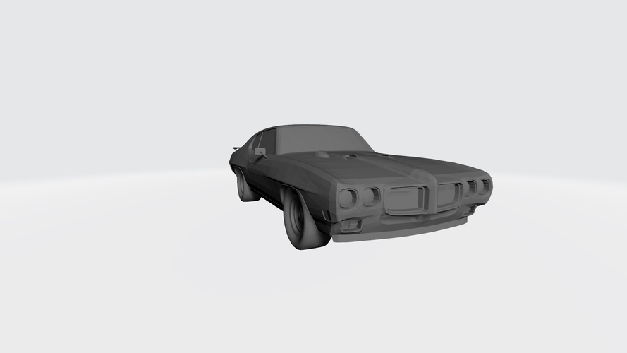 3D PRINTING MODEL OF PONTIAC GTO 1970 CAR STL FILE 3D Print 256746