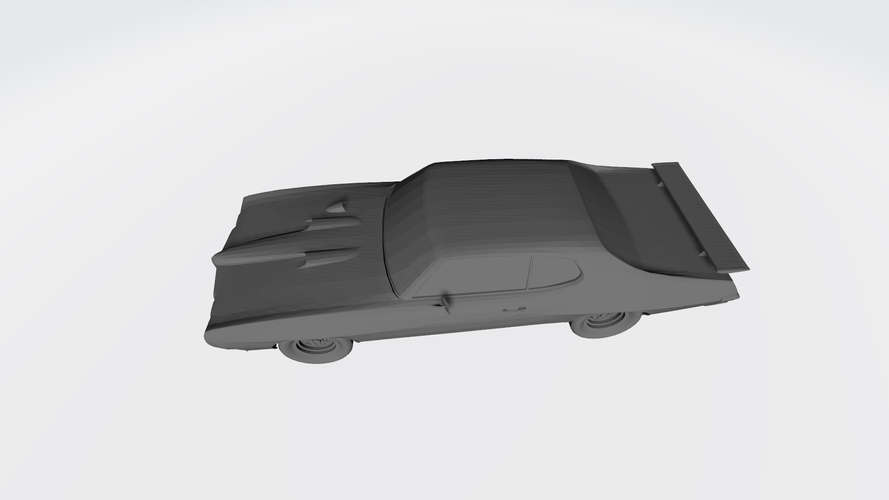 3D PRINTING MODEL OF PONTIAC GTO 1970 CAR STL FILE 3D Print 256747