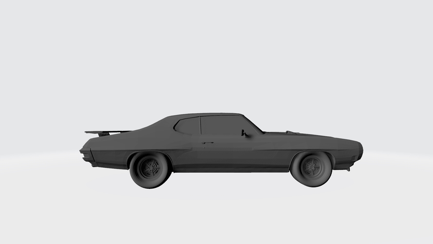 3D PRINTING MODEL OF PONTIAC GTO 1970 CAR STL FILE 3D Print 256750