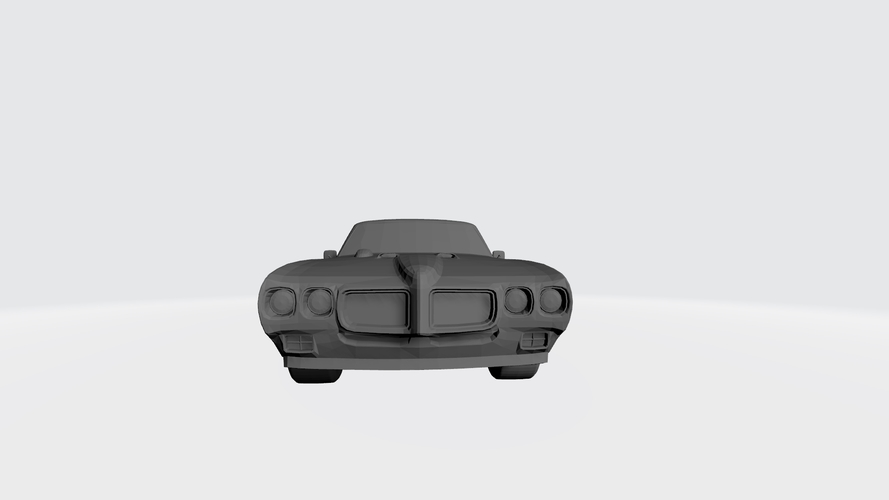 3D PRINTING MODEL OF PONTIAC GTO 1970 CAR STL FILE 3D Print 256751