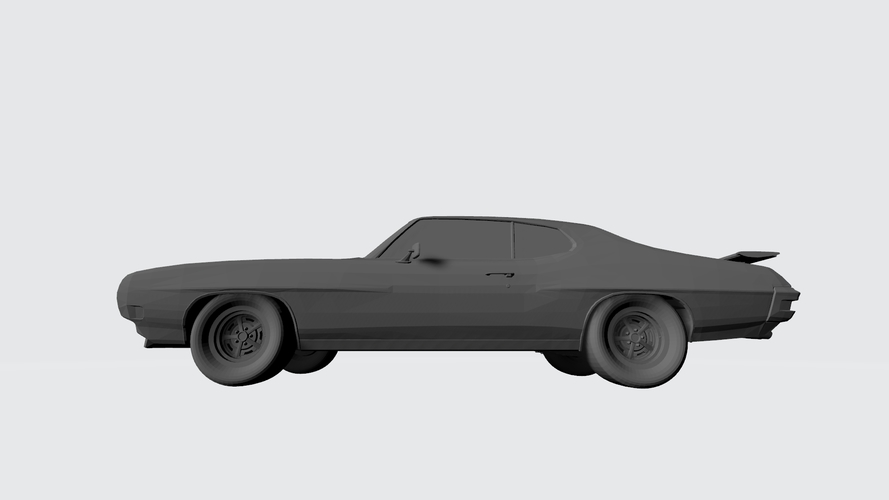 3D PRINTING MODEL OF PONTIAC GTO 1970 CAR STL FILE 3D Print 256752