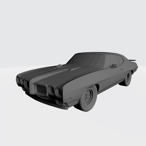 3D PRINTING MODEL OF PONTIAC GTO 1970 CAR STL FILE 3D Print 256753
