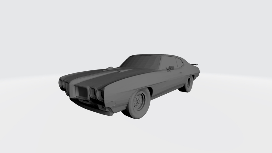 3D PRINTING MODEL OF PONTIAC GTO 1970 CAR STL FILE 3D Print 256754